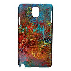 Abstract in Red, Turquoise, and Yellow Samsung Galaxy Note 3 N9005 Hardshell Case