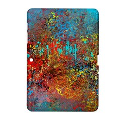 Abstract in Red, Turquoise, and Yellow Samsung Galaxy Tab 2 (10.1 ) P5100 Hardshell Case