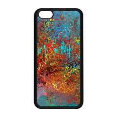 Abstract in Red, Turquoise, and Yellow Apple iPhone 5C Seamless Case (Black)