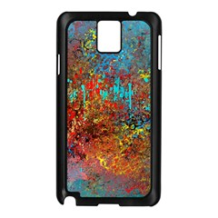 Abstract in Red, Turquoise, and Yellow Samsung Galaxy Note 3 N9005 Case (Black)