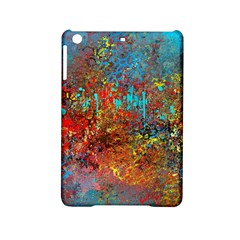 Abstract In Red, Turquoise, And Yellow Ipad Mini 2 Hardshell Cases