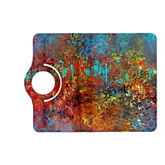 Abstract in Red, Turquoise, and Yellow Kindle Fire HD (2013) Flip 360 Case