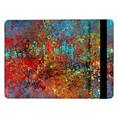 Abstract In Red, Turquoise, And Yellow Samsung Galaxy Tab Pro 12 2  Flip Case