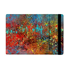 Abstract in Red, Turquoise, and Yellow iPad Mini 2 Flip Cases