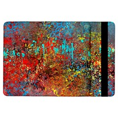 Abstract in Red, Turquoise, and Yellow iPad Air Flip