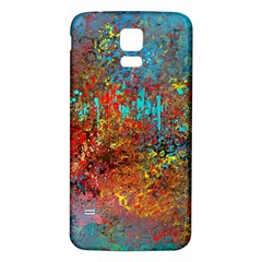 Abstract In Red, Turquoise, And Yellow Samsung Galaxy S5 Back Case (white)