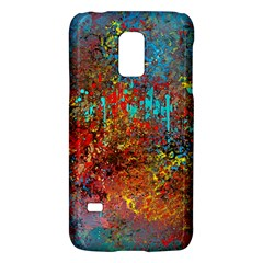 Abstract in Red, Turquoise, and Yellow Galaxy S5 Mini