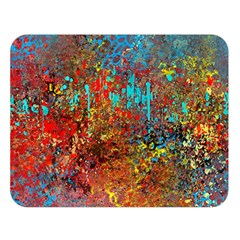 Abstract In Red, Turquoise, And Yellow Double Sided Flano Blanket (large)