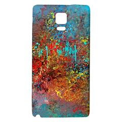 Abstract In Red, Turquoise, And Yellow Galaxy Note 4 Back Case