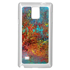 Abstract In Red, Turquoise, And Yellow Samsung Galaxy Note 4 Case (white)