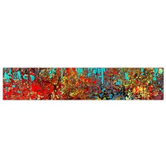 Abstract in Red, Turquoise, and Yellow Flano Scarf (Small)