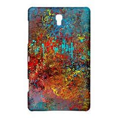 Abstract In Red, Turquoise, And Yellow Samsung Galaxy Tab S (8 4 ) Hardshell Case