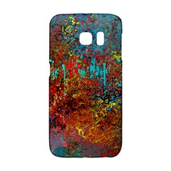 Abstract in Red, Turquoise, and Yellow Galaxy S6 Edge