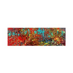 Abstract In Red, Turquoise, And Yellow Satin Scarf (oblong)