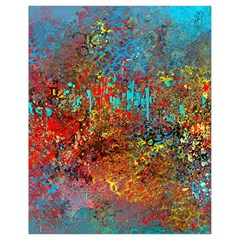 Abstract in Red, Turquoise, and Yellow Drawstring Bag (Small)