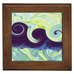 Abstract Ocean Waves Framed Tiles