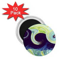 Abstract Ocean Waves 1.75  Magnets (10 pack)