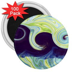Abstract Ocean Waves 3  Magnets (100 pack)