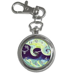Abstract Ocean Waves Key Chain Watches