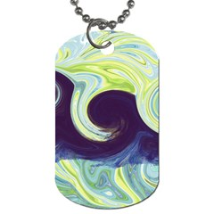 Abstract Ocean Waves Dog Tag (Two Sides)