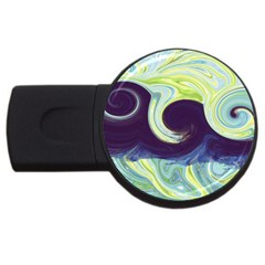 Abstract Ocean Waves USB Flash Drive Round (1 GB)