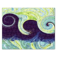 Abstract Ocean Waves Rectangular Jigsaw Puzzl