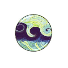Abstract Ocean Waves Hat Clip Ball Marker
