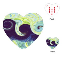 Abstract Ocean Waves Playing Cards (Heart)