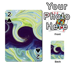 Abstract Ocean Waves Playing Cards 54 Designs