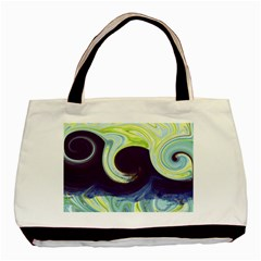Abstract Ocean Waves Basic Tote Bag