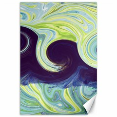 Abstract Ocean Waves Canvas 12  x 18