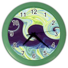 Abstract Ocean Waves Color Wall Clocks