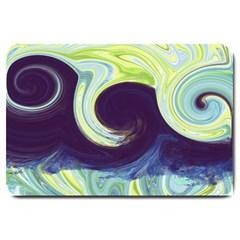 Abstract Ocean Waves Large Doormat