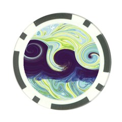 Abstract Ocean Waves Poker Chip Card Guards