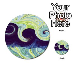 Abstract Ocean Waves Multi-purpose Cards (Round)