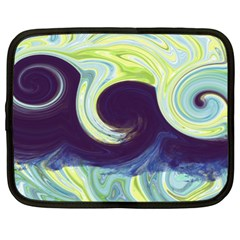 Abstract Ocean Waves Netbook Case (XL)