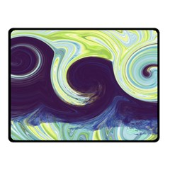 Abstract Ocean Waves Fleece Blanket (Small)