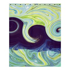 Abstract Ocean Waves Shower Curtain 60  x 72  (Medium)
