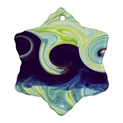Abstract Ocean Waves Ornament (snowflake)