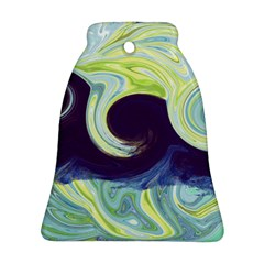 Abstract Ocean Waves Bell Ornament (2 Sides)
