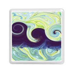 Abstract Ocean Waves Memory Card Reader (Square)
