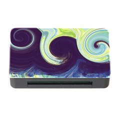 Abstract Ocean Waves Memory Card Reader with CF
