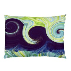 Abstract Ocean Waves Pillow Cases (two Sides)