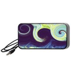 Abstract Ocean Waves Portable Speaker (Black)