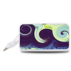 Abstract Ocean Waves Portable Speaker (White)