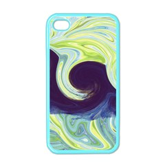 Abstract Ocean Waves Apple iPhone 4 Case (Color)