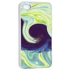 Abstract Ocean Waves Apple Iphone 4/4s Seamless Case (white)