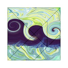 Abstract Ocean Waves Acrylic Tangram Puzzle (6  x 6 )