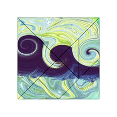 Abstract Ocean Waves Acrylic Tangram Puzzle (4  x 4 )