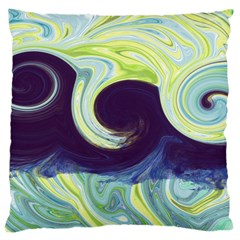 Abstract Ocean Waves Large Cushion Cases (two Sides)